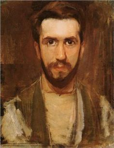 Piet Mondrian Self-Portrait 1900 -- not what you're used to seeing from him...