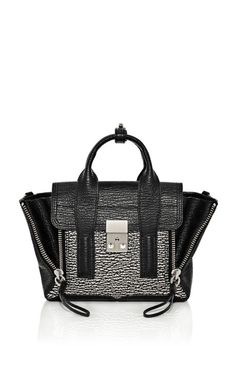 Phillip Lim Two-Toned Shark Embossed Pashli Mini Satchel