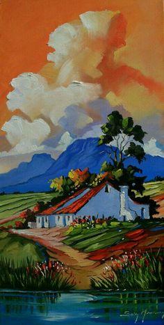 Oil painting - the living art! Landscape Art, Landscape Paintings, South African Artists, Paintings I Love, Art Plastique, Art Oil, Amazing Art, Art Projects, Art Drawings