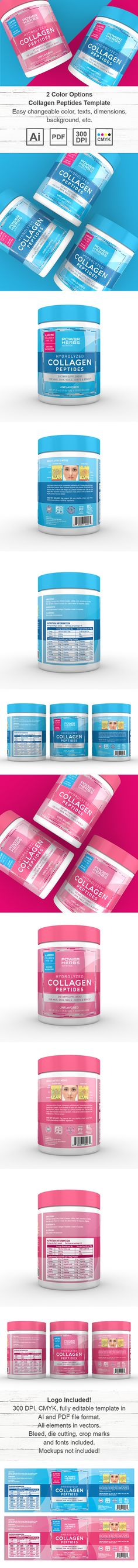 Pet Hip and Joint Supplement Label Template Creative Brochure - packing label template