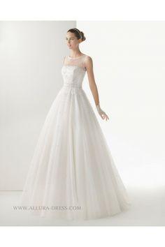 Court Train A Line Wedding Dress  2014 New Wedding dress