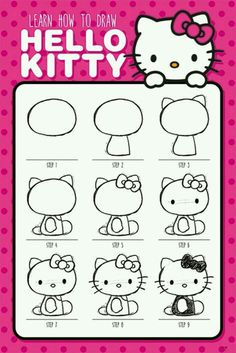 "How to draw "" Hello Kitty "" official  poster"