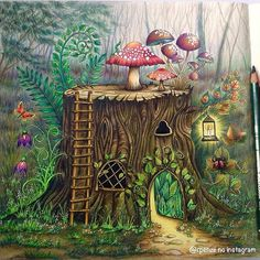 Inspirational Coloring Pages by @rpenze #inspiração #coloringbooks #livrosdecolorir #jardimsecreto #secretgarden #florestaencantada #enchantedforest #reinoanimal #animalkingdom #adultcoloring #johannabasford #milliemarotta