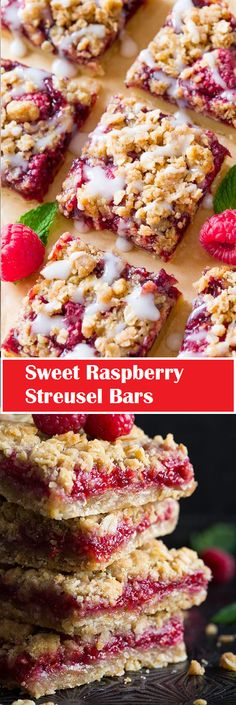 ★★★★✩ 79  | ⌚️ 25 minutes   Sweet Raspberry Streusel Bars Healthy Family Meals, Healthy Meal Prep, Healthy Desserts, Healthy Dinner Recipes, Vegan Recipes, Healthy Eating, Cooking Tips, Cooking Recipes, Pull Apart Bread
