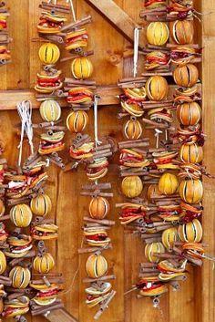 Dried orange and cinnamon sticks for holiday Christmas decoration