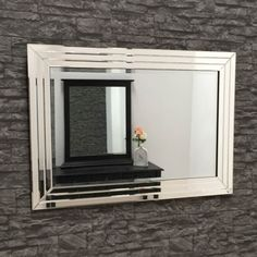 Large Framed Mirror Glasses : Glass Framed Mirror Mitred Corners 120x80 cm Interiors ...