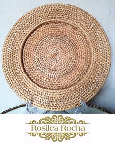 Souplat de ratan www.rosilearochadecoracao.com.br