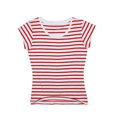 O-neck striped Cute Short Sleeve