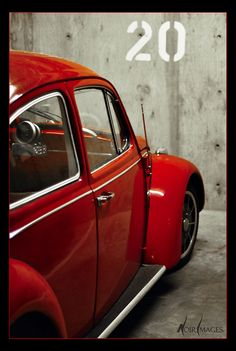 Punch buggy red, no punches back!  VW beetle in classic red.
