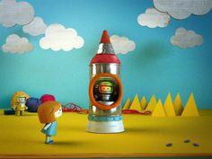 Nick Jr. ID Imaginación by Ronda. Desarrollo de ID que trabaja sobre el concepto de la imaginación a través de objetos cotidianos que toman nuevos significados. 2010.