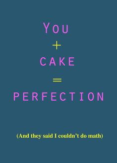 You  Cake birthday card  funny birthday card  by TenseandUrgent