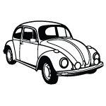 Top 5 Legendary Volkswagen Beetle Car Coloring Sheets - Coloring Pages Cars Coloring Pages, Coloring Sheets, Car Vector, Vector Graphics, Vector Clipart, Beetle Cartoon, Beetle Drawing, Car Tattoos, Bug Car