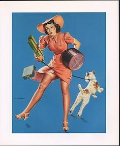 """""""Help Wanted """" by Gil Elvgren created 1943- Dog Trouble 10x12 pin-up print"""