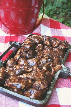 Looking for delicious camping recipes? This delicious chocolate monkey bread is done right up over the campfire using a pie iron. Camping Meals, Tent Camping, Camping Hacks, Camping Recipes, Glamping, Backpacking Recipes, Camping Stuff, Family Camping, Scout Camping