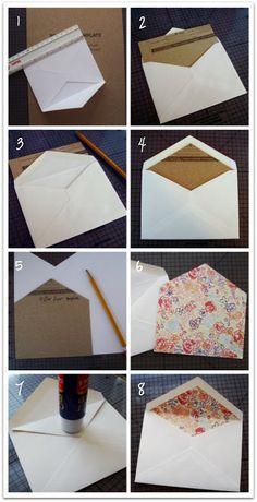 Custom envelope liner
