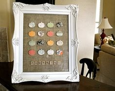 Love this simple fall decor (but this concept could be done any time of year too)