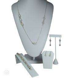 Gemma Necklace and Double Earring Set - includes: The Necklace, The Bracelet, The Dangle Earrings, The Tear Drop Earrings, and an optional Free Greeting Card Double Earrings, Teardrop Earrings, Jewelry Sets, Earring Set, Greeting Card, Dangles, Bracelets, Free, Bracelet