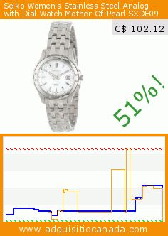 Seiko Women's Stainless Steel Analog with Dial Watch Mother-Of-Pearl SXDE09 (Watch). Drop 51%! Current price C$ 102.12, the previous price was C$ 207.03. http://www.adquisitiocanada.com/seiko/womens-stainless-steel-0