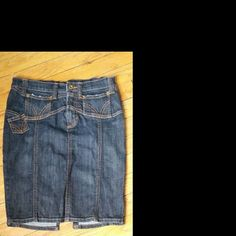 Dolce & Gabbana Denim Skirt This is a size 24 Dolce & Gabbana jean skirt. There is some wear as noted in the last picture.   I'm definitely open to best offers. Dolce & Gabbana Skirts