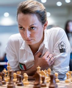 Elisabeth Paehtz This game is from round 7 of the 2018 European Club Cup. It is between Elisabeth Paehtz with White against Masha Klin. Cheese Game, Chess Players, Scrabble, Girls Be Like, Tile, Cottage, Posts, Club, Female