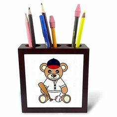Janna Salak Designs Teddy Bears - Cute Baseball Player Te…