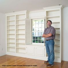 Norm On Nyw Explaining How To Make Built In Wall Unit I So Miss His Bookcase Plansbookshelvesdiy