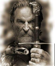 Tattoo Odin, Ozzy Tattoo, Viking Warrior Tattoos, Smoke Tattoo, Spartan Tattoo, Bild Tattoos, Viking Tattoo Design, Realism Tattoo, Dark Fantasy Art