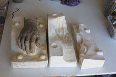 Sculptor | Beatriz Cunha | Escultura: Plaster cast - male hand | Molde de gesso - mão ma...
