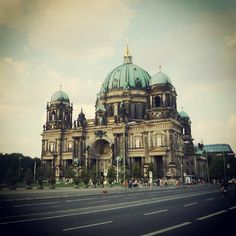 Berliner Dom. The Evangelical Church of Berlin, located on Museum Island in the Mitte borough. Consacrated in 1454, it was originary affiliated on Roman Catholic, from 1539 on Lutheran, Calvinist since 1613, now Protestant. The outer Dome height is 115 meters.