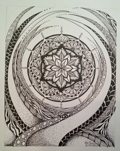 Judy's Zentangle Creations: Mystical Mandala by Judy Richards
