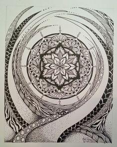 Judy's Zentangle Creations: Mystical Mandala by Judy Richards Mandala Art, Art Drawings, Drawings, Doodle Art, Mandala, Art Inspiration, Doodle Drawings, Tangle Art, Zen Art