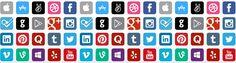 Botões para compartilhar postagens nas redes sociais - CBBlogers