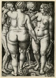 The death and three women Beham, Hans Sebald (1500-1550) | Stecher Beham, Barthel (1502-1540) | Inventor to 1546/50 Engraving Cabinet