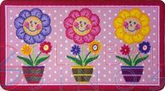 Tapete Flores Modelo 1 - 90x50cm