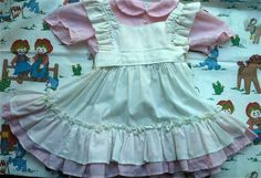 Gingham Apron Dress 3T by lishyloo on Etsy, $10.00