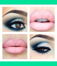 Cute Makeup,Loving the lip colour followed by a dramatic Smokey eye cute for cinema or lunch.