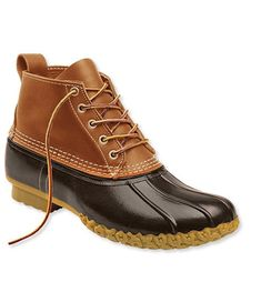 "Men's L.L. Bean Boots, 6""   Size & Fit  With light- or midweight socks: Whole sizes, order 1 size down. Half sizes, order 1½ sizes down. With heavyweight socks: Whole sizes, order your normal size. Half sizes, order the next size down"