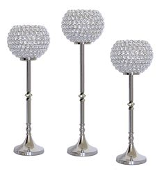 Large Crystal Pillar Candle lamps from SIMCS HANDICRAFTS Silver Candle Holders, Candle Holders Wedding, Tealight Candle Holders, Candle Lanterns, Tea Light Candles, Pillar Candles, Tea Lights, Candelabra Wedding Centerpieces, Crystal Candelabra