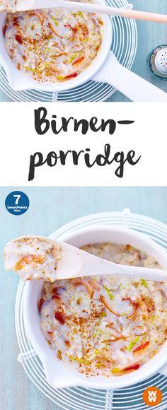 Birnenporridge | 7 SmartPoints/Portion, Weight Watchers, Frühstück, in 15 min. fertig