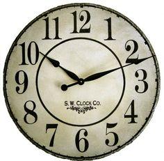 Over sized wall clock- ahhh how i love clocks