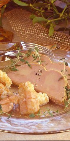 Foie Gras et poêlée de langoustines au thym citronné