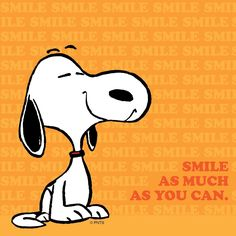 'Smile as much as you can!', Snoopy ❤️