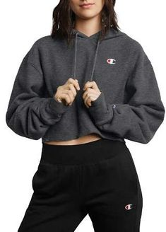 4b4f127a Champion Reverse Weave Cropped Hooded Sweatshirt. Cropped Hoodie ...
