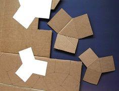 Cómo hacer macetas triangulares con cemento ~ Solountip.com