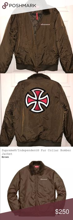 NEW Supreme Independent Bomber Jacket - M - Brown Authentic Size Medium Brand new with tags Supreme Jackets & Coats Bomber & Varsity