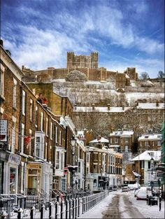 Snow at Dover Castle