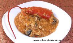 Arroz con Bogavante hecho en Thermomix #recetas #arroz #thermomix