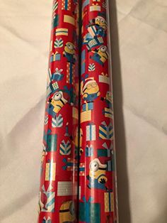 Wrapping Papers, Present Wrapping, Gift Wrapping Paper, Wrapping Ideas, Minion Gifts, My Minion, Minions, Christmas Wrapping, Red Christmas