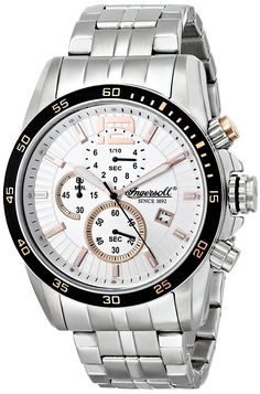 Ingersoll Men's INQ019WHSL Hartford Analog Display Japanese Quartz Silver Watch -- See this great product. (This is an Amazon Affiliate link and I receive a commission for the sales)