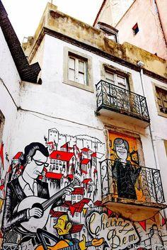 Street art in Lisbon, Portugal #lisbon #streetart #urbanart #graffiti #art